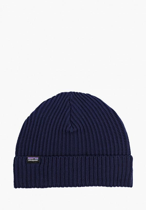 женская шапка patagonia, синяя