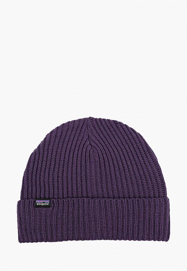 женская шапка patagonia, фиолетовая