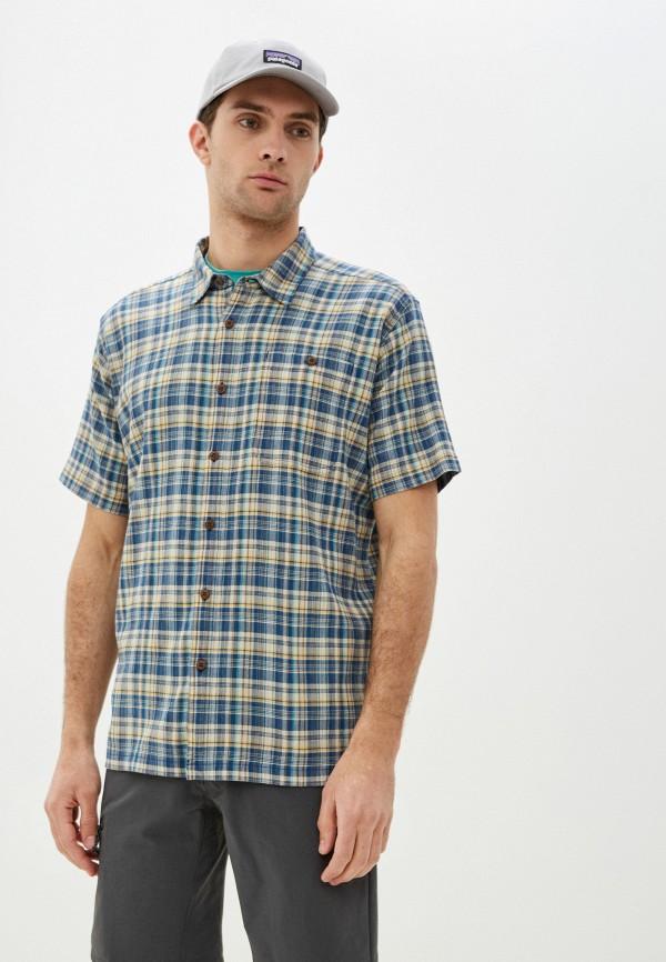 мужская рубашка patagonia, синяя