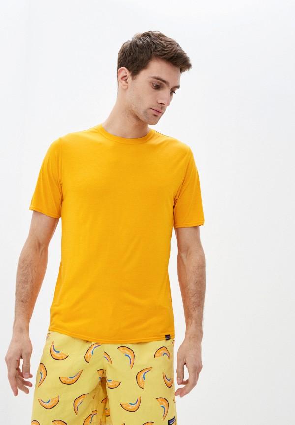 мужская спортивные футболка patagonia, желтая