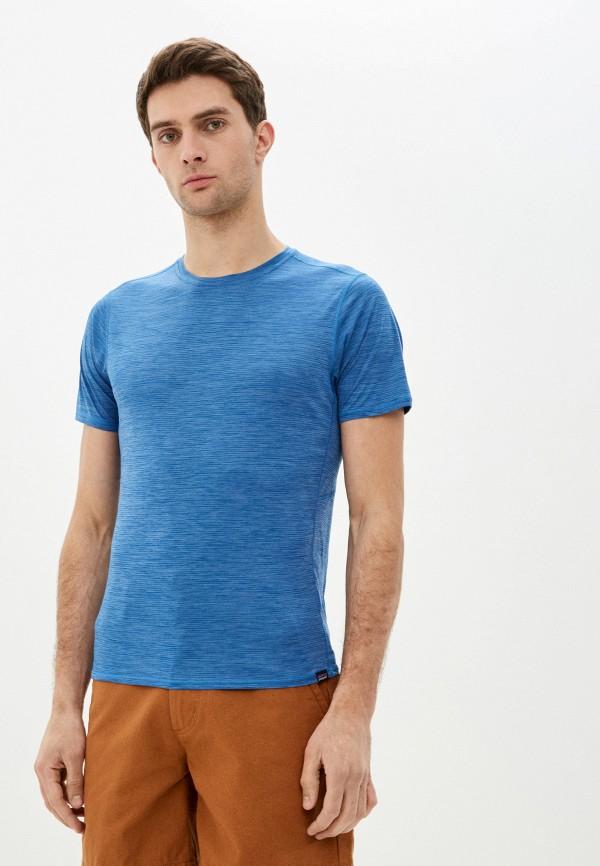 мужская спортивные футболка patagonia, голубая