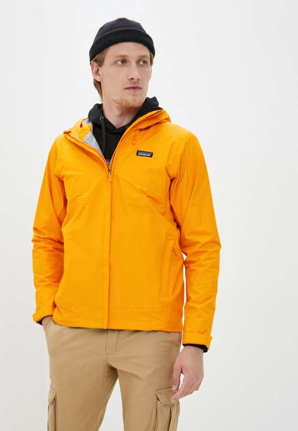 мужская ветровка patagonia, оранжевая
