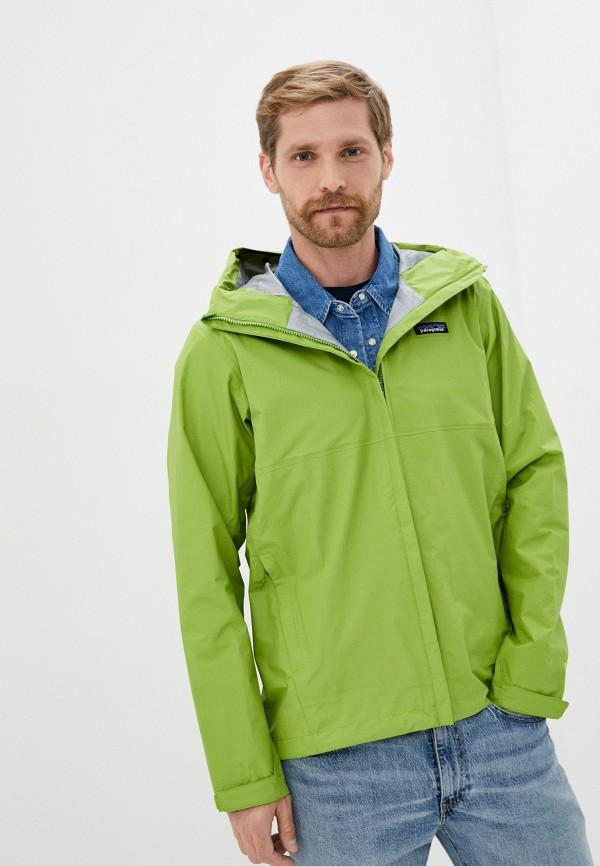 мужская ветровка patagonia, зеленая
