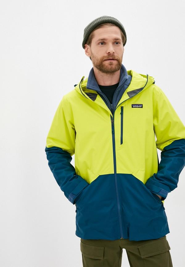 мужская куртка patagonia, желтая
