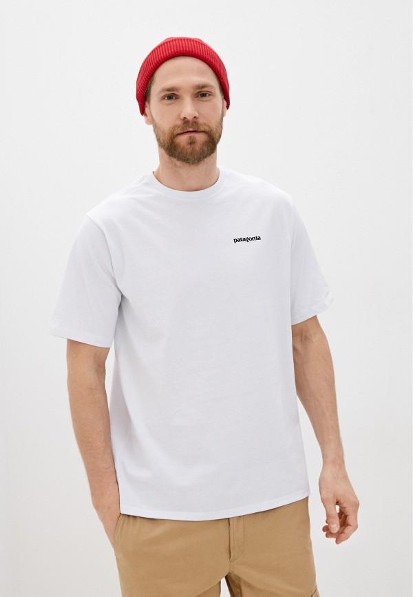 мужская спортивные футболка patagonia, белая