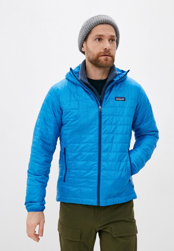 мужская куртка patagonia, голубая