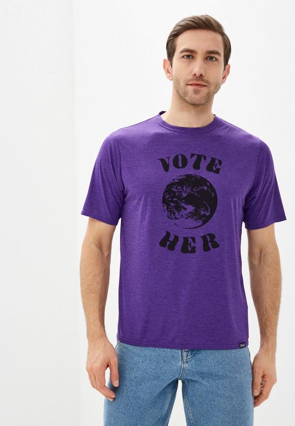 мужская спортивные футболка patagonia, фиолетовая