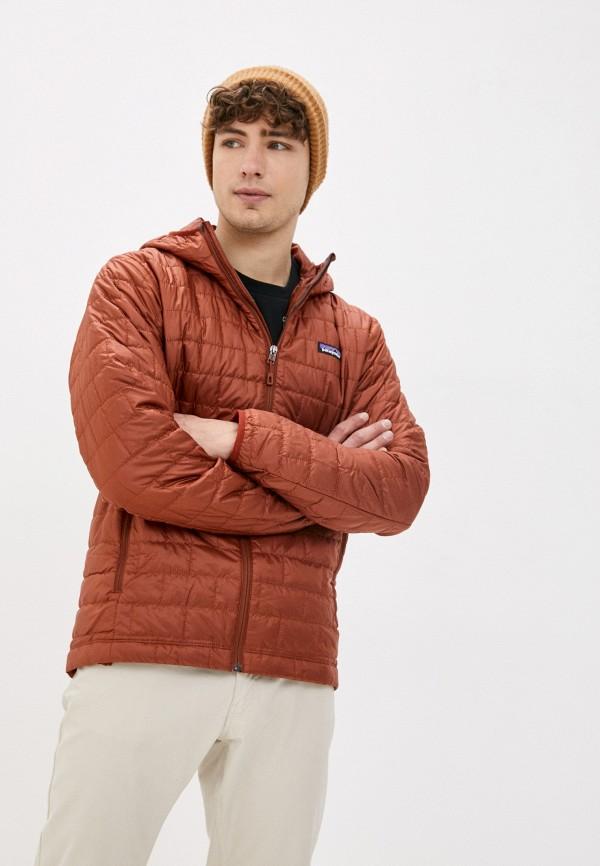 мужская куртка patagonia, коричневая