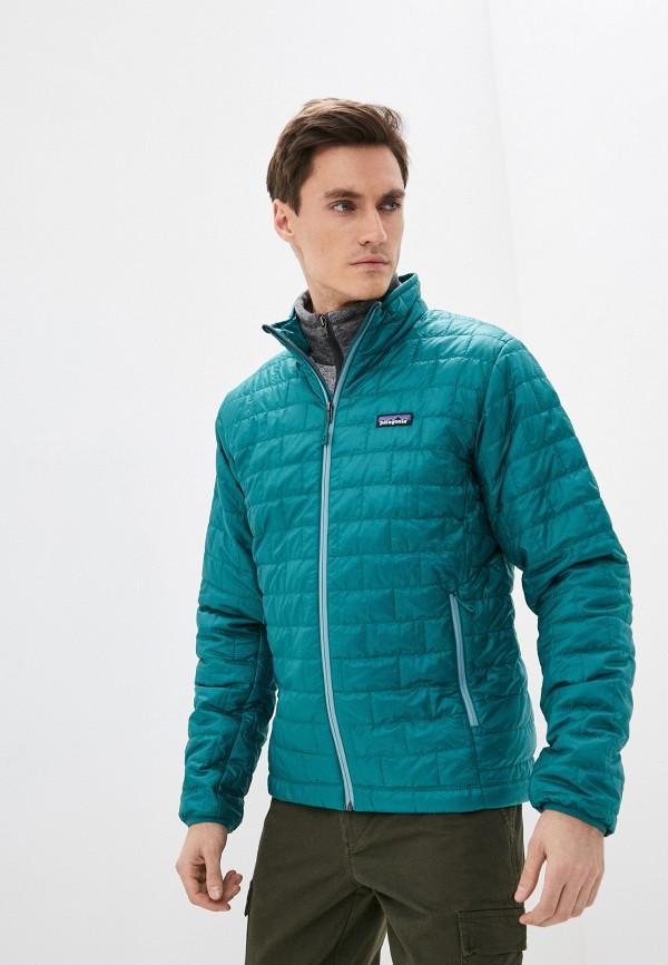 мужская куртка patagonia, бирюзовая