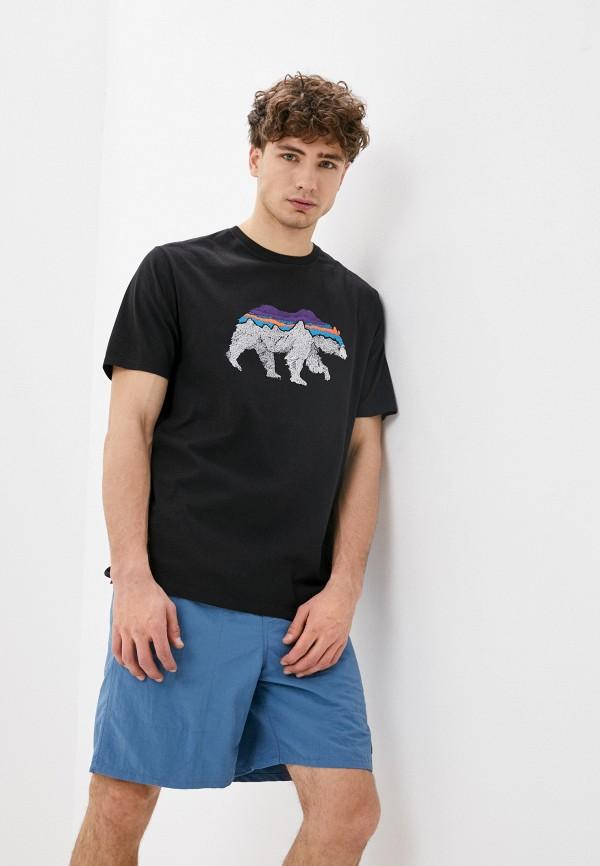 мужская спортивные футболка patagonia, черная