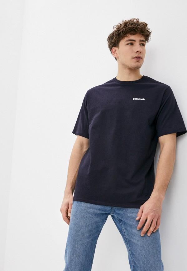 мужская спортивные футболка patagonia, синяя