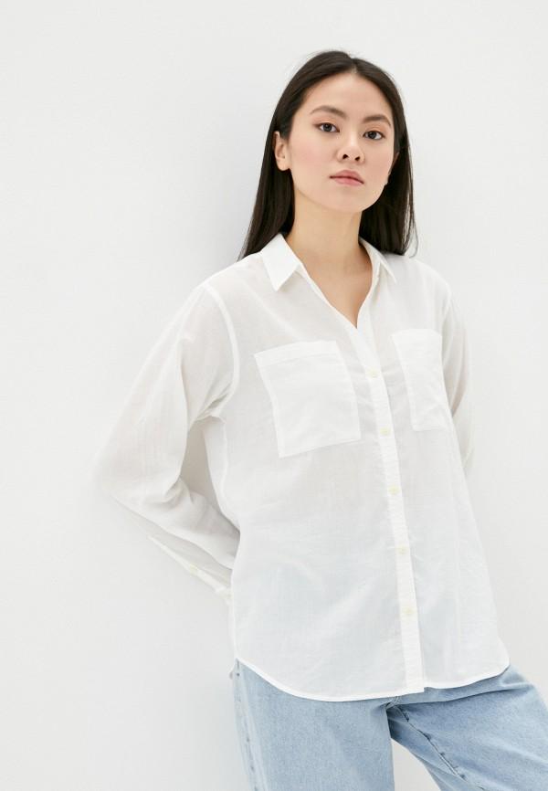 женская рубашка с длинным рукавом patagonia, белая