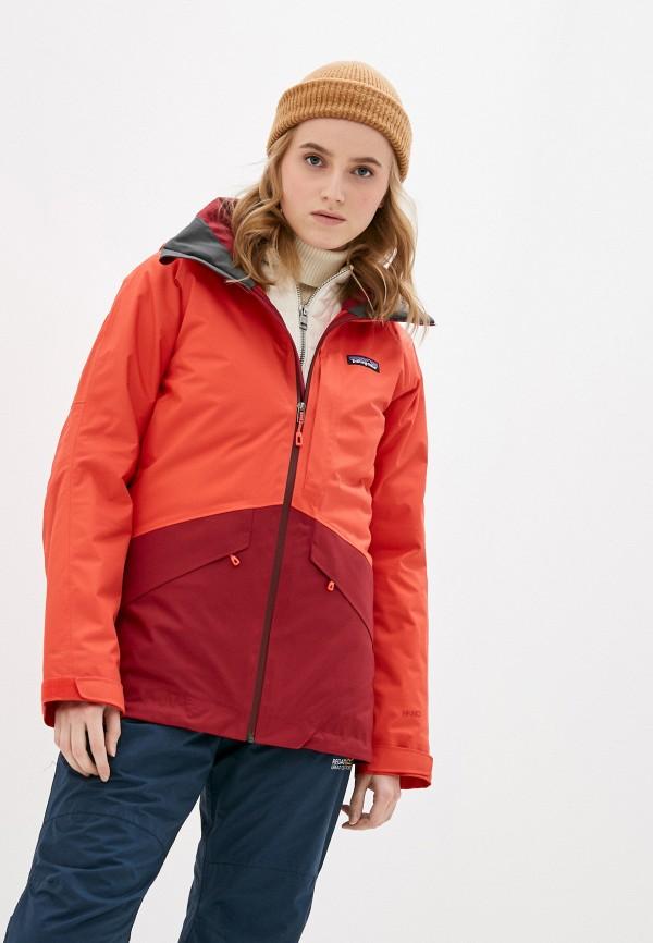 женская куртка patagonia, красная