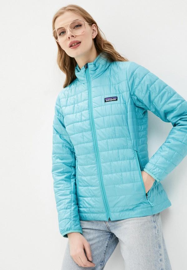 женская куртка patagonia, бирюзовая