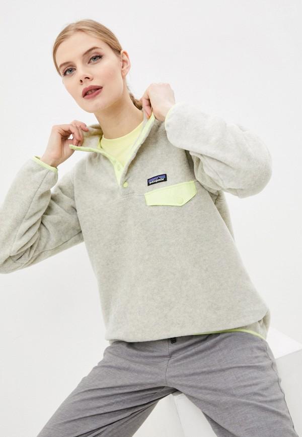 женская олимпийка patagonia, серая