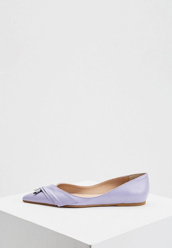 женские балетки patrizia pepe, фиолетовые