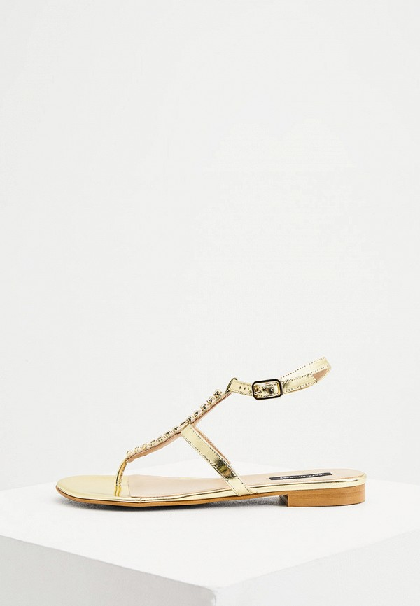 женские сандалии patrizia pepe, золотые