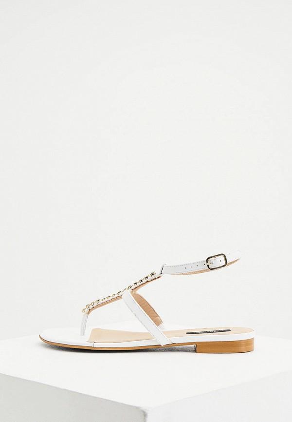 женские сандалии patrizia pepe, белые