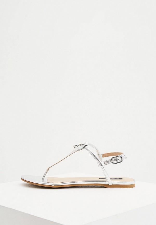 женские сандалии patrizia pepe, серебряные