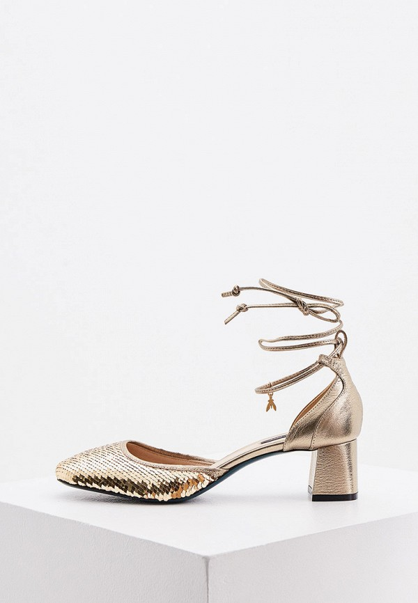 женские туфли patrizia pepe, золотые