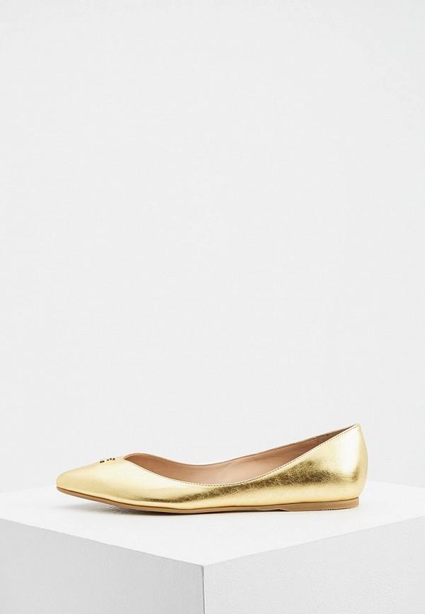 женские балетки patrizia pepe, золотые