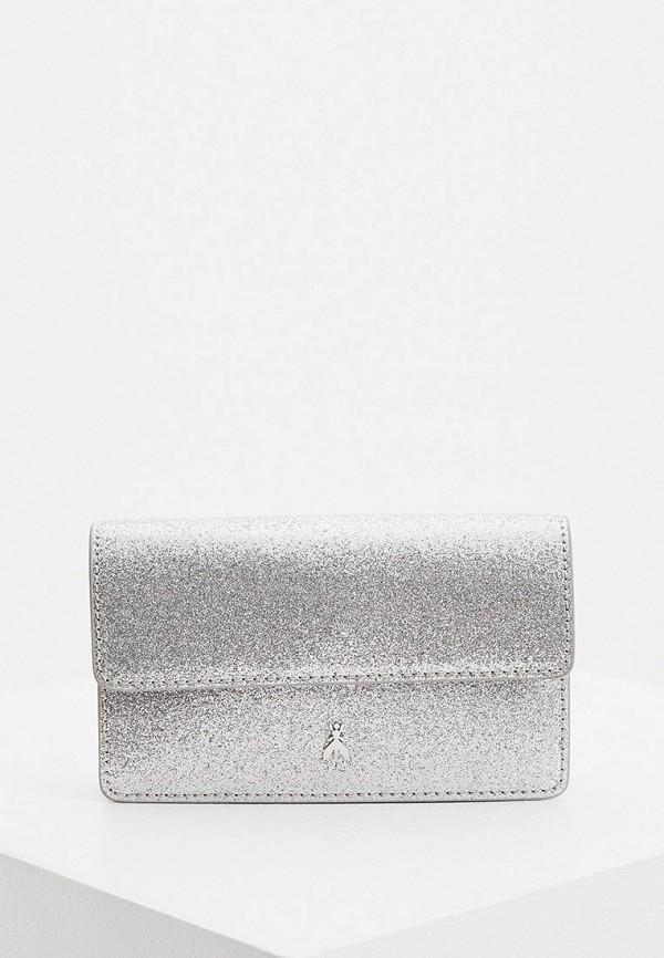 сумка patrizia pepe для девочки, серебряная