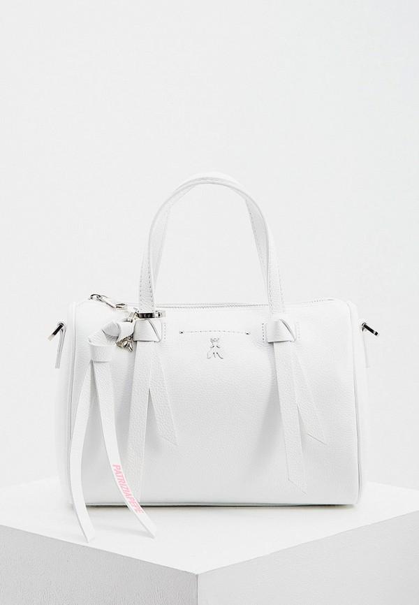 женская сумка с ручками patrizia pepe, белая