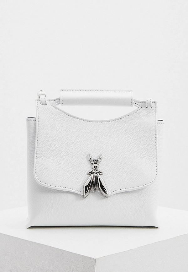 женская сумка через плечо patrizia pepe, белая
