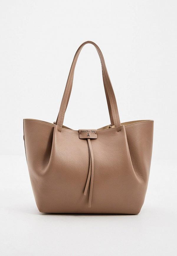 женская сумка patrizia pepe, бежевая