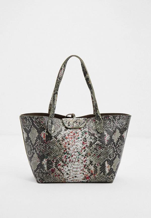 женская сумка-шоперы patrizia pepe, зеленая