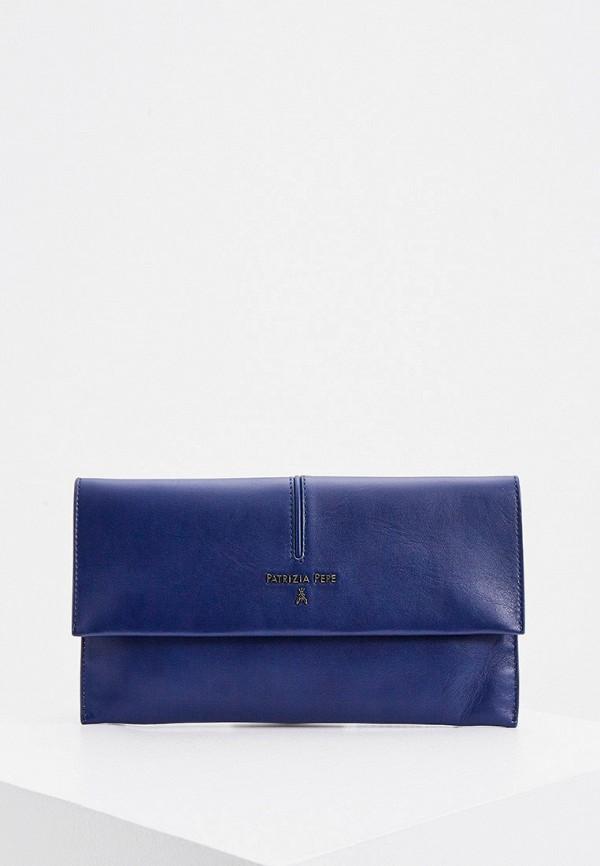 женский клатч patrizia pepe, синий