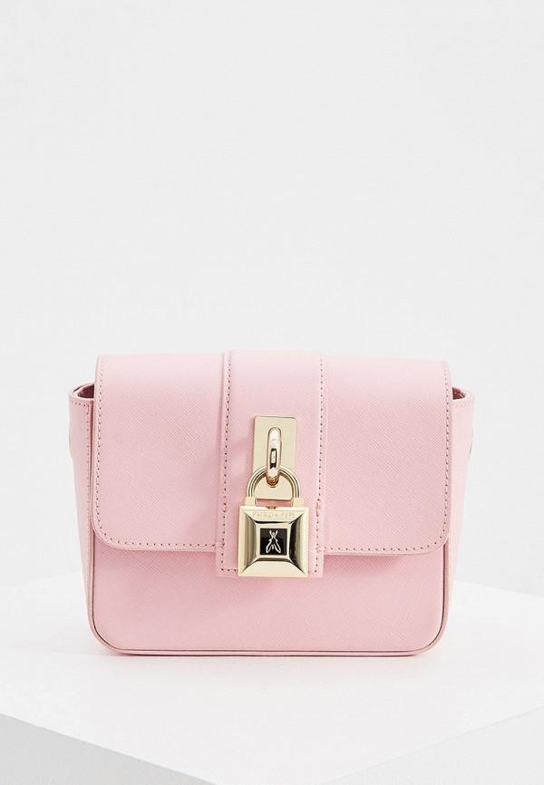 женская сумка через плечо patrizia pepe, розовая