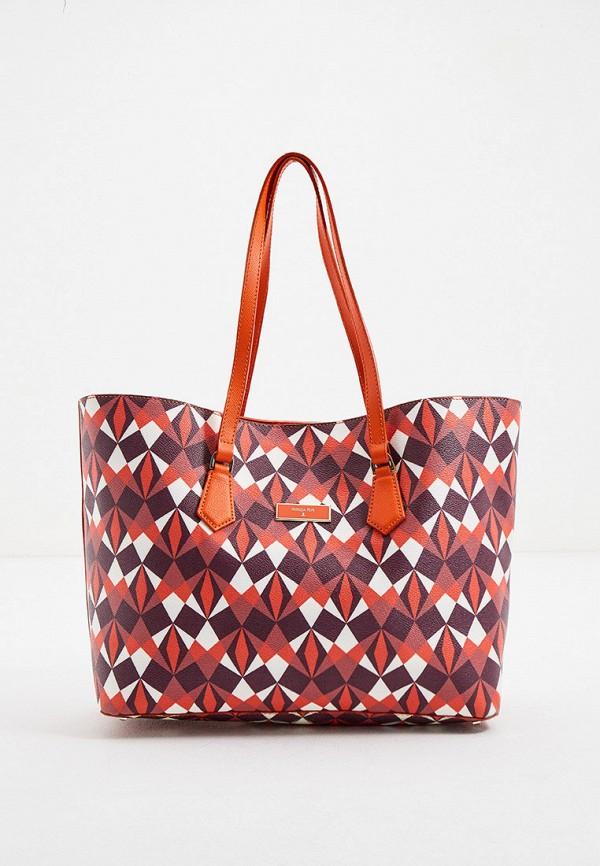 женская сумка-шоперы patrizia pepe, разноцветная