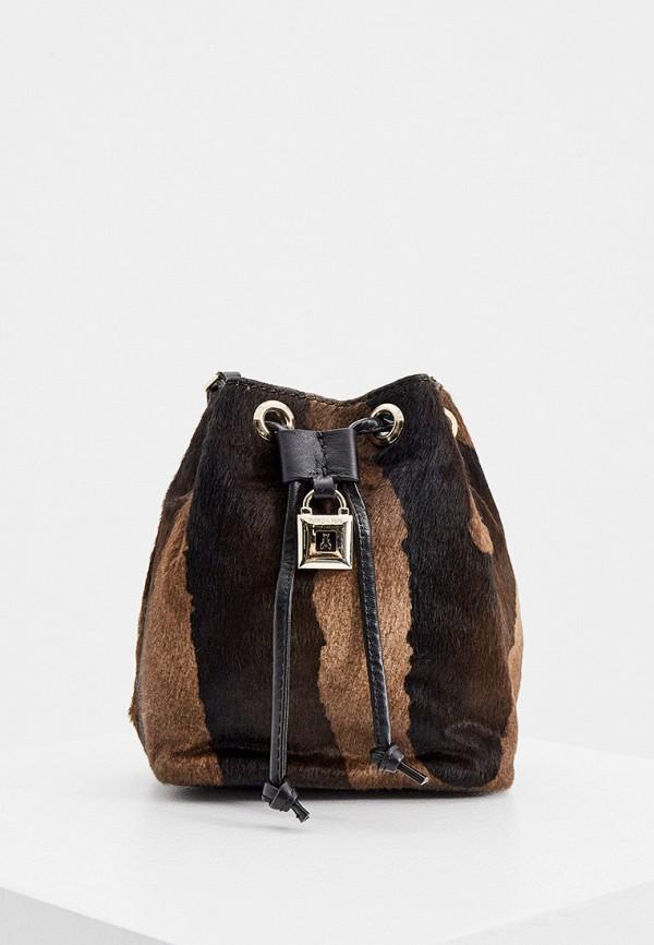 женская сумка через плечо patrizia pepe, коричневая