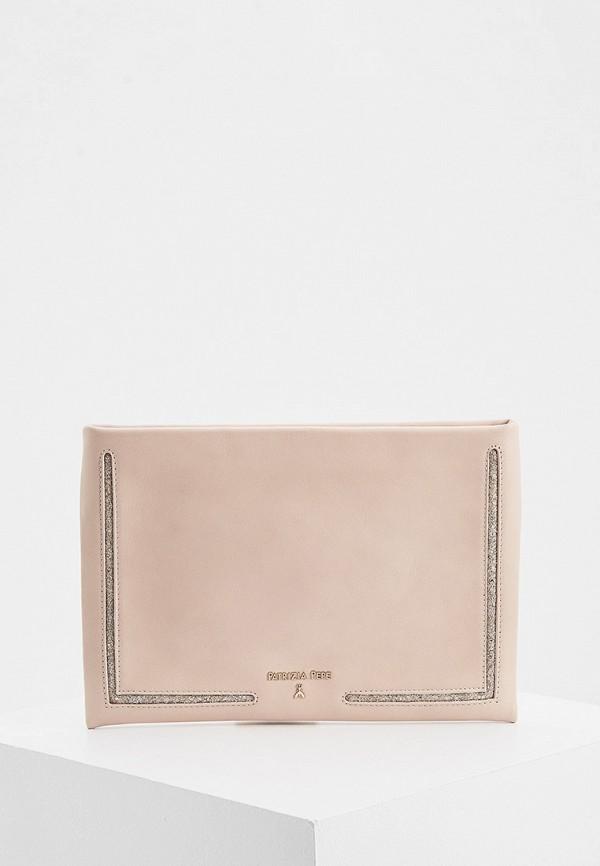 женский клатч patrizia pepe, розовый
