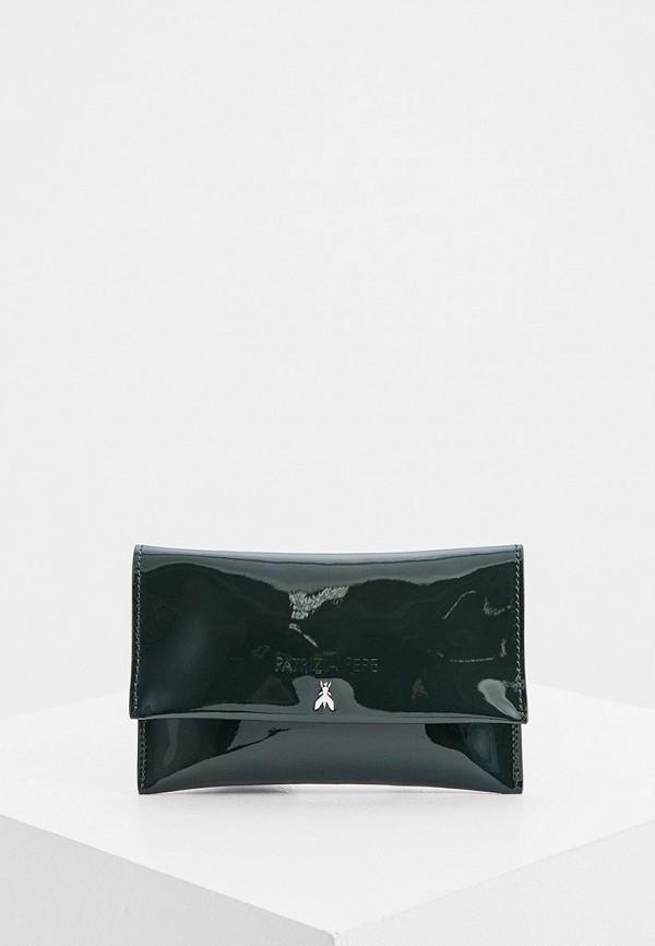 женский клатч patrizia pepe, зеленый