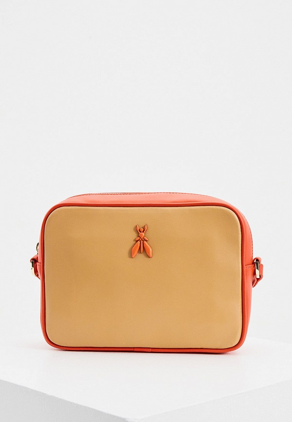 женская сумка через плечо patrizia pepe, бежевая