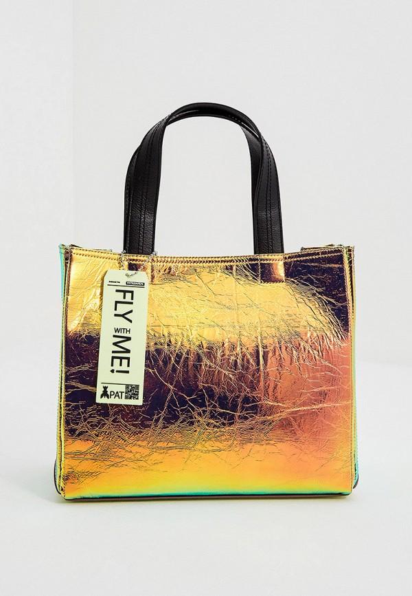 женская сумка с ручками patrizia pepe, разноцветная