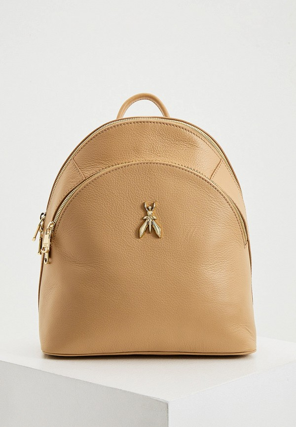 женский рюкзак patrizia pepe, бежевый