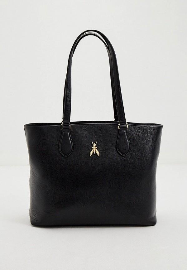 женская сумка-шоперы patrizia pepe, черная