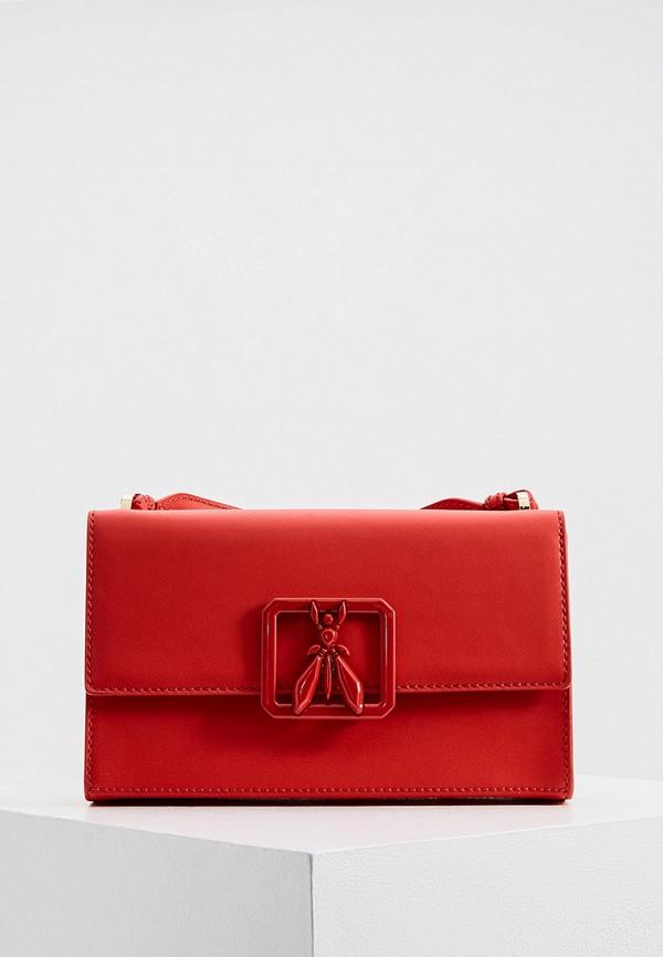 женская сумка через плечо patrizia pepe, красная
