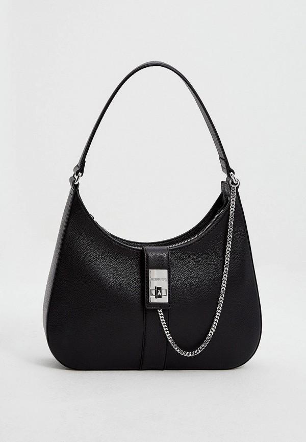 женская сумка с ручками patrizia pepe, черная