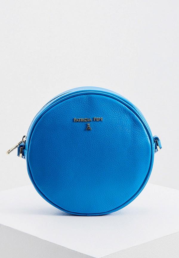 женская сумка через плечо patrizia pepe, синяя