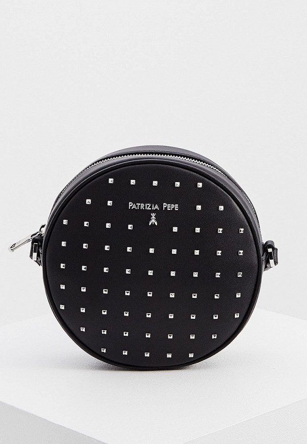 женская сумка через плечо patrizia pepe, черная