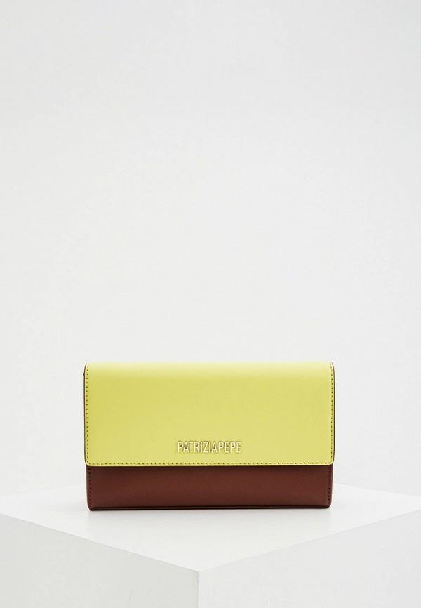 женская сумка через плечо patrizia pepe, желтая