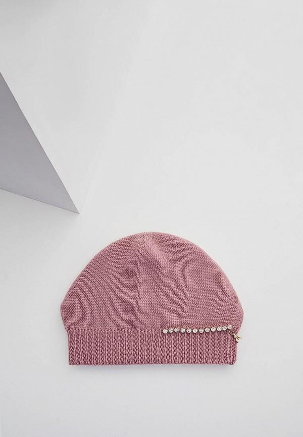 женская шапка patrizia pepe, розовая