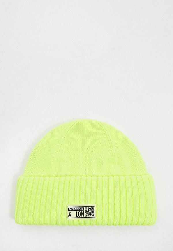 женская шапка patrizia pepe, зеленая