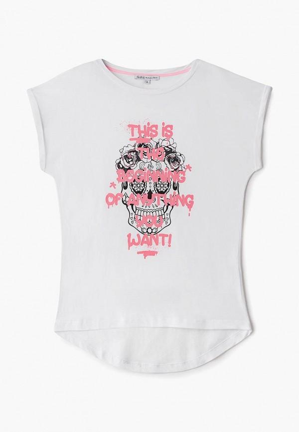 футболка с коротким рукавом patrizia pepe для девочки, белая