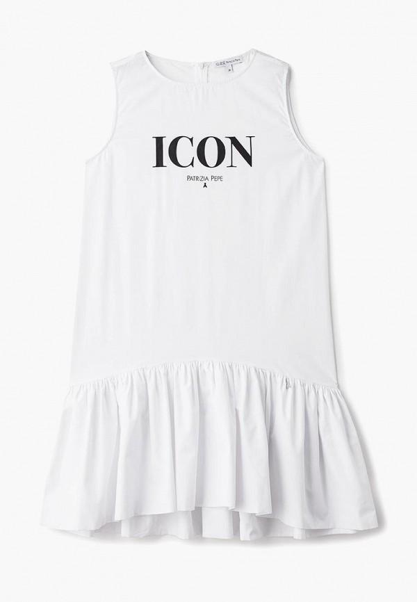 повседневные платье patrizia pepe для девочки, белое