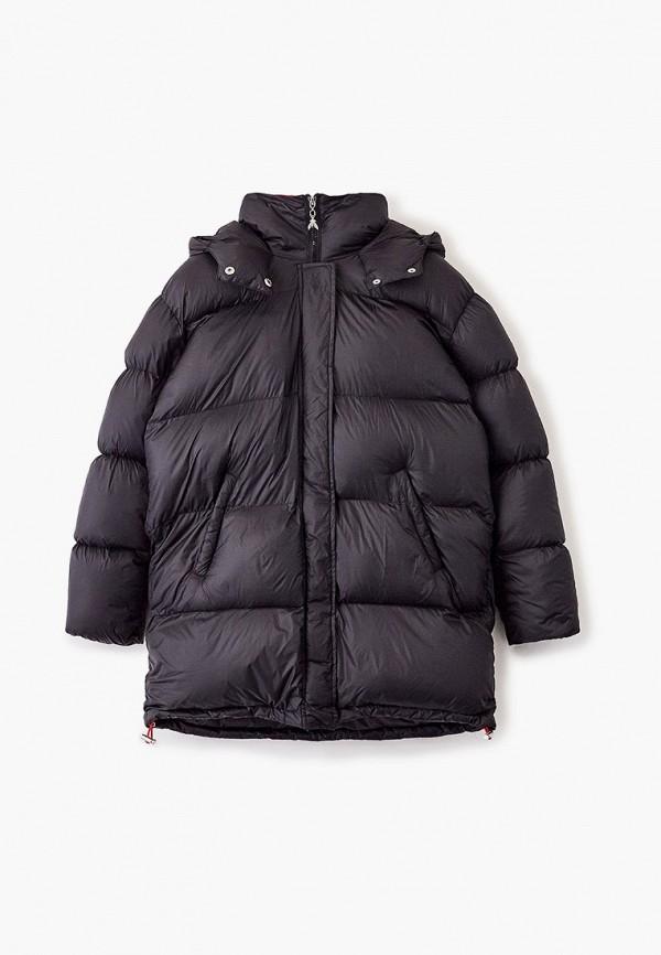 утепленные куртка patrizia pepe для девочки, черная